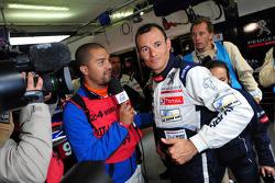 Stéphane Sarrazin celebrates fastest time