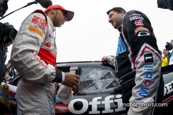 Both Hamilton and Stewart thoroughly enjoyed their day at Watkins Glen