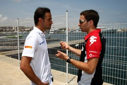 Vitantonio Liuzzi, Hispania Racing F1 Team, HRT and Jerome d'Ambrosio, Marussia Virgin Racing