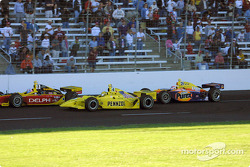Scott Sharp, Sam Hornish Jr. and Robbie Buhl