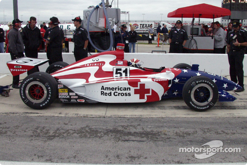 A side view of Cheever's car