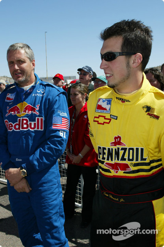 Eddie Cheever et Sam Hornish Jr.