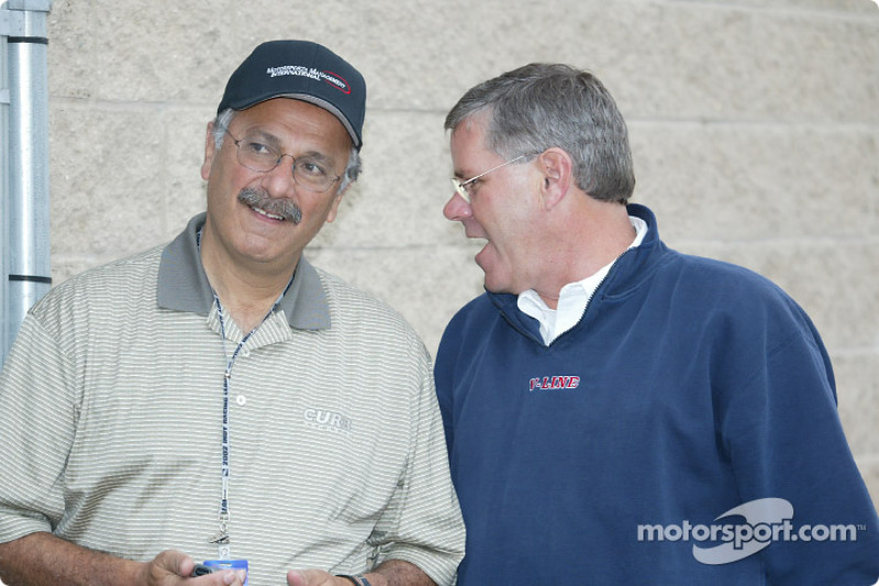 Team owner Cary Agajanian and Rick Long