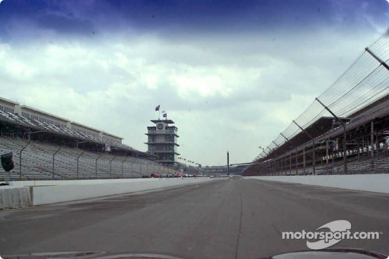 Down the front stretch