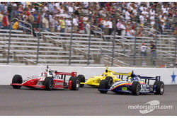 Al Unser Jr., Sam Hornish, and Vitor Meira