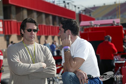 Tony George and Max Papis