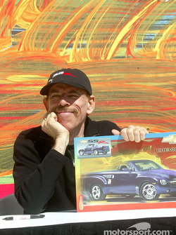 Peter Max with Chevy SSR poster