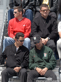 Helio Castroneves, Tony Kanaan, Scott Sharp and Gil de Ferran