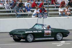 Al Unser Sr. drives the pace car