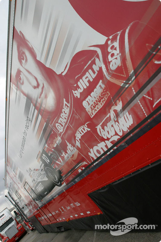 Le camion du Target Chip Ganassi Racing