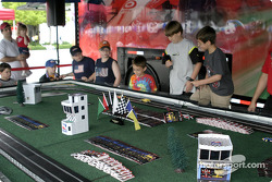 Fans play slot cars