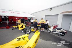 Panther Racing paddock area