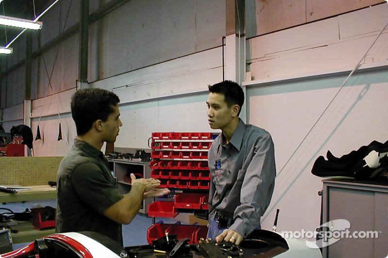 Arciero Brooke Racing garage: Max Wilson