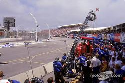 A racing scene shot in Toronto in July 2000
