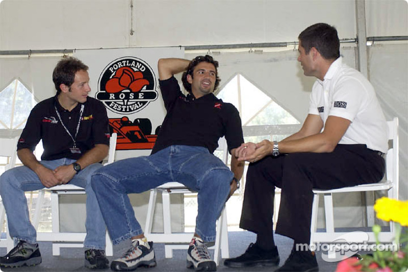 Cristiano da Matta, Christian Fittipaldi and Gil de Ferran