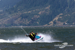 Columbia River Gorge: Patrick Carpentier and Alexandre Tagliani on a jetski