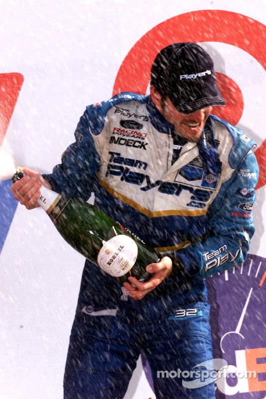 The podium: Patrick Carpentier
