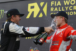 Podium: Petter Solberg, Petter Solberg World RX Team and Kevin Eriksson, Olsbergs MSE