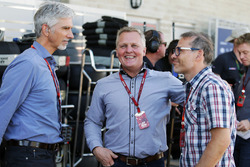 Damon Hill, Sky Sports Presentador con Johnny Herbert, Sky Sports F1 Presentador y Jacques Villeneuve