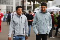 (L to R): Rio Haryanto, Manor Racing with Esteban Ocon, Manor Racing
