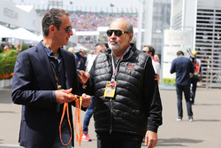 (L to R): Carlos Slim Domit, Chairman of America Movil with Carlos Slim Sr, Telmex and America Movil Chairman and Chief Executive, guests of Sahara Force India F1 Team
