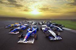 Williams-Autos für das 40-jährige Jubiläum