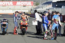 Jorge Lorenzo, Yamaha Factory Racing; Marc Marquez, Repsol Honda Team; Maverick Viñales, Team Suzuki Ecstar MotoGP; Jack Miller, Estrella Galicia 0,0 Marc VDS
