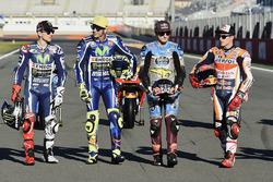 Jorge Lorenzo, Yamaha Factory Racing; Valentino Rossi, Yamaha Factory Racing; Jack Miller, Estrella Galicia 0,0 Marc VDS; Marc Marquez, Repsol Honda Team
