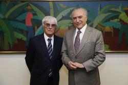 Bernie Ecclestone visits president Temer in Brasília