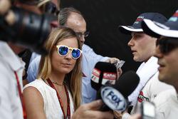 Общение с прессой: Валттери Боттас, Williams F1 и Фелипе Масса, Williams