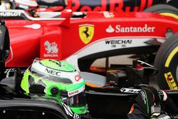 Nico Hulkenberg, Sahara Force India F1 VJM09 dans le Parc Fermé