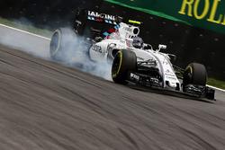 Valtteri Bottas, Williams FW38 bloque une roue au freinage