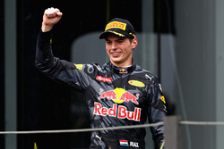 Podium: derde Max Verstappen, Red Bull Racing