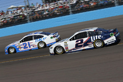 Ryan Blaney, Wood Brothers Racing Ford, Brad Keselowski, Team Penske Ford