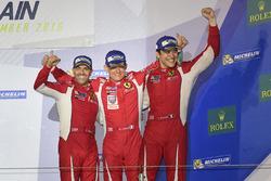 LMGTE Am Podyum: 3. #83 AF Corse Ferrari 458 Italia: Francois Perrodo, Emmanuel Collard, Rui Aguas