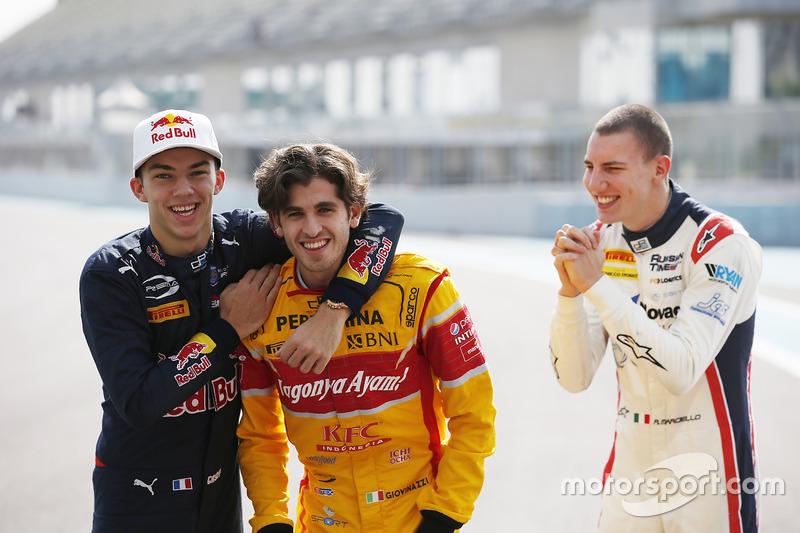 Pierre Gasly, PREMA Racing, Antonio Giovinazzi, PREMA Racing & Raffaele Marciello, RUSSIAN TIME