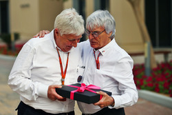 Herbie Blash, FIA Delegate with Bernie Ecclestone