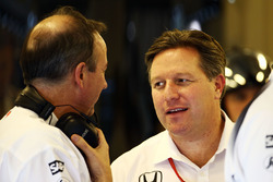 Jonathan Neale, McLaren Chief Operating Officer with Zak Brown, McLaren Executive Director