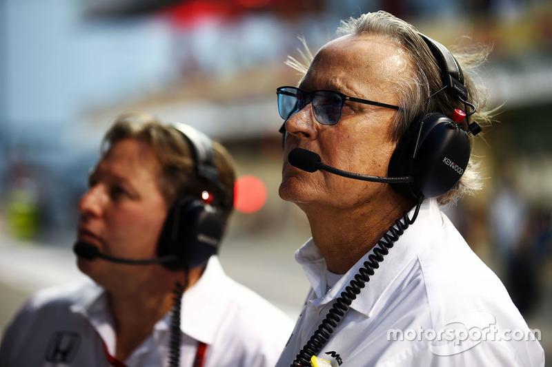 Zak Brown, con Mansour Ojjeh, accionista de McLaren