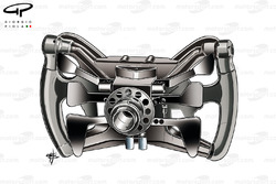 Рулевое колесо Марка Уэббера на Red Bull RB7, вид сзади