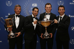 Porsche Team WEC champions Neel Jani, Marc Lieb, Romain Dumas