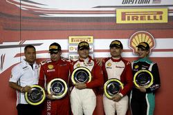 Podium: 1. Thomas Loefflad, StileF Squadra Corse; 2. Rick Lovat, Kessel Racing; 3. Matt Keegan, Ferrari of San Francisco; Manuela Gostner, Ineco - MP Racing
