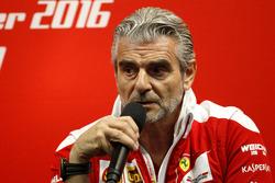 Conferenza stampa: Maurizio Arrivabene, Team principal Ferrari
