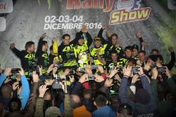 Valentino Rossi e Carlo Cassina, vincitori del Monza Rally Show 2016