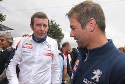 Bruno Famin, patron de Peugeot Sport, avec Sébastien Loeb