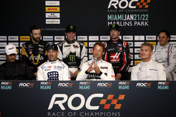 Press Conference with Helio Castroneves, Tony Kanaan, Jenson Button, David Coulthard, James Hinchcliffe, Petter Solberg, Kurt Busch, Felipe Massa