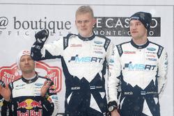Podium: tercer clasificado Ott Tänak, Martin Järveoja, M-Sport