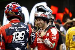 Travis Pastrana et Sebastian Vettel