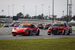 #18 RS1, Porsche Cayman: Aurora Straus, Connor Bloum, Nick Longhi; #75 Compass360 Racing, Audi S3: Roy Block, Pierre Kleinubing