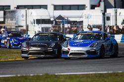 #35 CJ Wilson Racing, Porsche Cayman GT4: Russel Ward, Damien Faulkner; #33 CJ Wilson Racing, Porsche Cayman GT4: Marc Miller, Till Bechtolsheimer